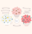flower bouquet for decoration vector image vector image