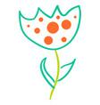 flower graphic design floral elements doodle vector image vector image