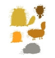 Fluffy cats silhouettes sketch for your design vector image vector image