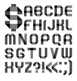 Font from a paper transparent tape - Alphabet