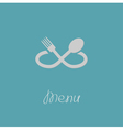 Fork spoon in shape of infinity sign Menu card vector image vector image