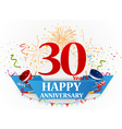 Happy anniversary celebration design vector image