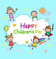 happy childrens day background vector image vector image