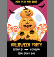 happy halloween invitation poster with vector image vector image