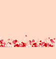 happy valentines day background paper red pink vector image vector image