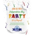 India Independence day party poster template vector image