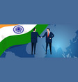 india international partnership diplomacy vector image vector image