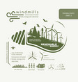 infographics renewable source of wind energy vector image vector image