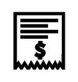 invoice bill icon vector image