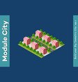 isometric 3d landscape top vector image vector image