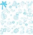 kids happy doodle art vector image