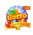 lotto game logo vector image