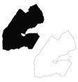 map djibouti isolated black vector image vector image