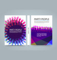modern colorful vertical music party banners vector image vector image
