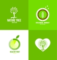 Nature fruit ecological logo vector image vector image