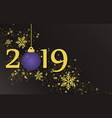 new year 2019 and merry christmas holiday vector image vector image