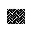 parquet black icon sign on isolated vector image vector image