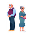 pensioners elderly man and woman old age vector image