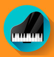 piano icon - a symbol classical music chamber vector image