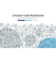 professions Doodle Website Template Design vector image vector image