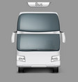 Realistic coach bus mockup front view