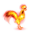 red cock fire rooster symbol of the new year by vector image vector image
