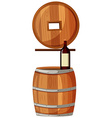 Red wine and wooden barrels vector image vector image