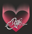 romantic design element - heart and lettering for vector image