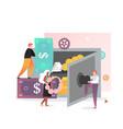safe deposit box concept for web banner vector image