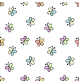 seamless baby pattern white vector image vector image