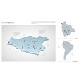set bolivia country isometric 3d map bolivia vector image