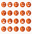 Set of different emoticons vector image vector image