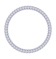 Silver chain - round frame on the white background vector image vector image