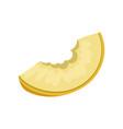 slice of juicy bitten melon sweet and healthy vector image