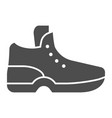 sneakers solid icon sport shoe vector image