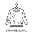 stain removal service dirty sweater with mud on vector image vector image