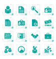 Stylized employment and jobs icons