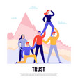 teamwork flat concept vector image vector image