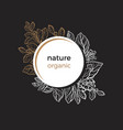 template nature branch circle dark vector image