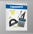 trigonometry flyer template vector image