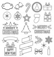 variety christmas elements set vector image vector image