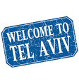 Welcome to Tel Aviv blue square grunge stamp