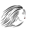 woman-portrait-sideview vector image vector image