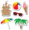 Summer sticker set vector image