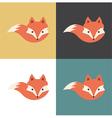 Red fox icon vector image