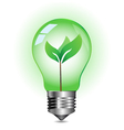 green energy concept plant growing inside the vector image