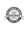 Vintage winery label vector image