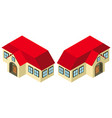 3d design for house with red roof vector image vector image