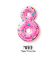 8 march doughnut women day holiday