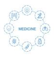 8 medicine icons vector image vector image